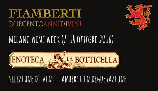 Degustazione all'enoteca Botticella (Milano Wine Week 2018)