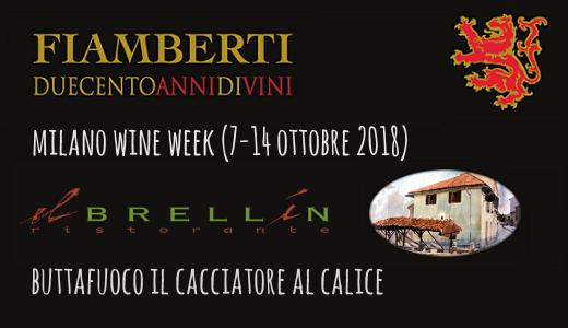 Buttafuoco al calice al ristorante El Brellin (Milano Wine Week)