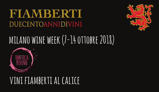 Vini Fiamberti al calice all'enoteca Divino (Milano Wine Week)