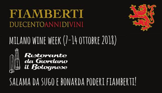 Salama da sugo e Bonarda da Giordano il Bolognese (Milano Wine Week)