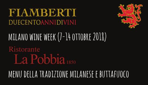 Menu della tradizione e Buttafuoco al ristorante La Pobbia (Milano Wine Week)