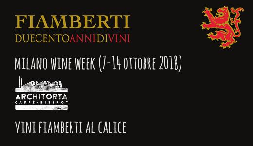 Vini Fiamberti al calice all'Architorta (Milano Wine Week)
