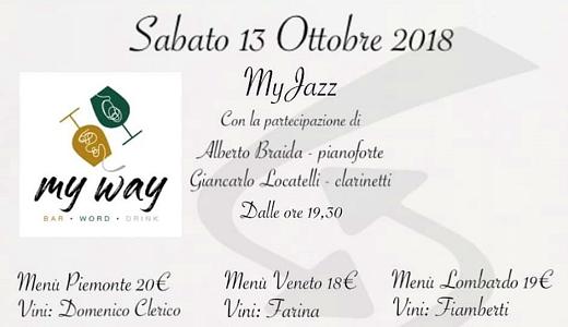 Jazz al bar My Way di Lodi (13 ottobre 2018)