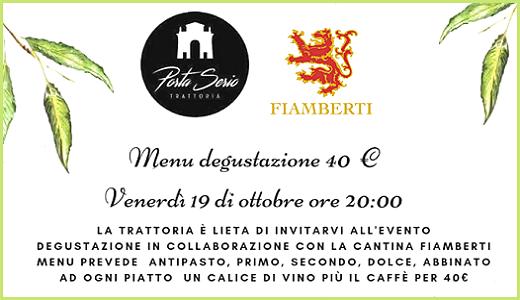 Cena-degustazione alla Trattoria Porta Serio (Crema, 19 ottobre 2018)