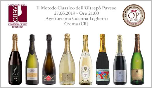 Degustazione di Metodo Classico OP con ONAV Cremona (Crema, 27/06/2019)