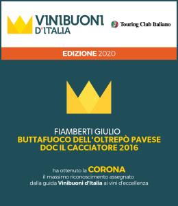 Buttafuoco Il Cacciatore 2016 - Corona 2020