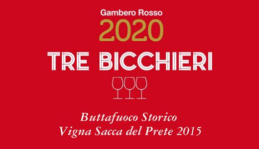 Tre Bicchieri 2020 per il Vigna Sacca del Prete
