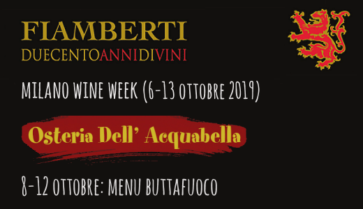 Menu Buttafuoco all'Osteria dell'Acquabella (Milano Wine Week 2019)