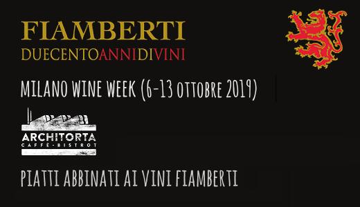 Piatti abbinati ai vini Fiamberti all'Architorta (Milano Wine Week 2019)