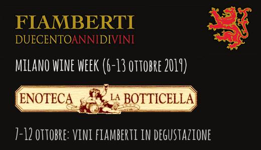 Degustazioni all'enoteca La Botticella (Milano Wine Week 2019)
