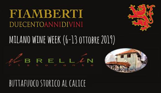 Buttafuoco Storico al calice da El Brellin (Milano Wine Week 2019)