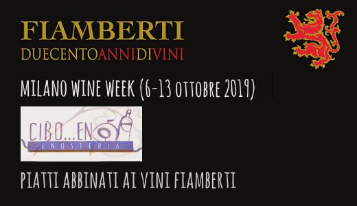 Piatti abbinati ai vini Fiamberti da Cibo... Enò (Milano Wine Week 2019)
