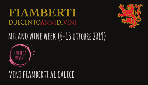Vini Fiamberti al calice all'enoteca Divino (Milano Wine Week 2019)