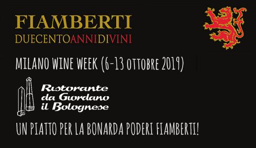 Un piatto per la Bonarda Poderi Fiamberti da Giordano il Bolognese (Milano Wine Week 2019)