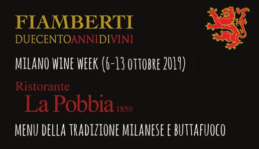 Menu della tradizione e Buttafuoco al ristorante La Pobbia 1850 (Milano Wine Week 2019)