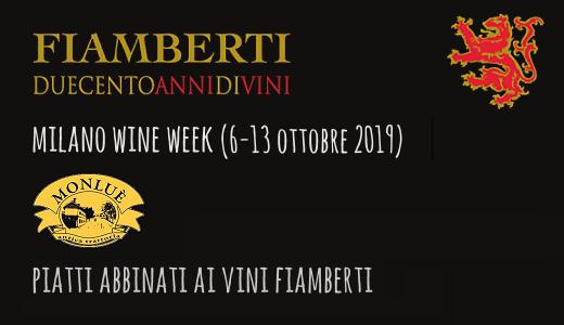 Piatti abbinati ai vini Fiamberti all'Antoca Trattoria Monluè (Milano Wine Week 2019)