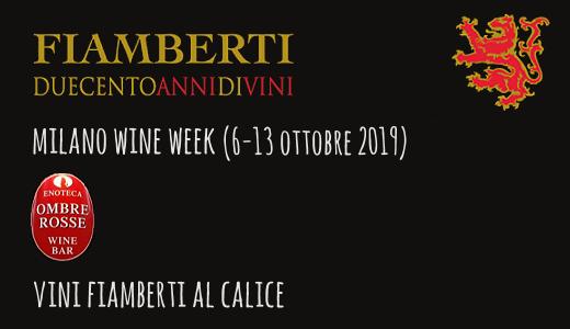 Vini Fiamberti al calice al wine bar Ombre Rosse (Milano Wine Week 2019)
