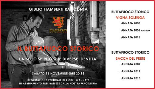 Doppia verticale di Buttafuoco Storico alla Macelleria Cazzaniga (16/11/2019)