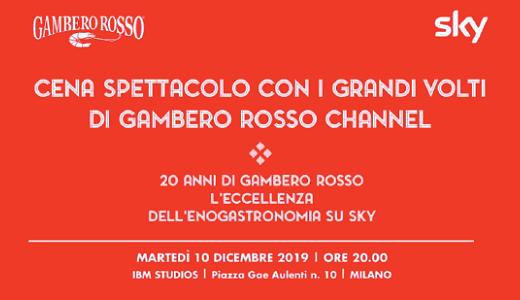 Cena di gala per i 20 anni del Gambero Rosso Channel (Milano 10/12/2019)