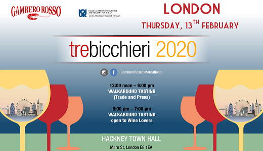 Tre Bicchieri World Tour 2020 (Londra, 13/02/2020)