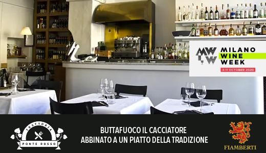 Trattoria Ponte Rosso - Milano Wine Week 2020