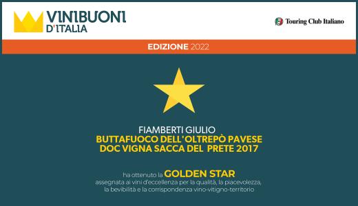 Buttafuoco Storico Vigna Sacca del Prete 2017 - Golden Star - Vinibuoni d'Italia 2022