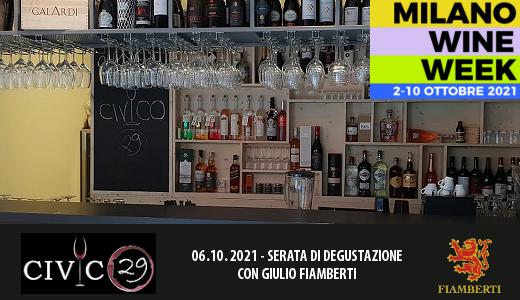 MWW2021: serata di degustazione al Civico29 (06/10/2021)