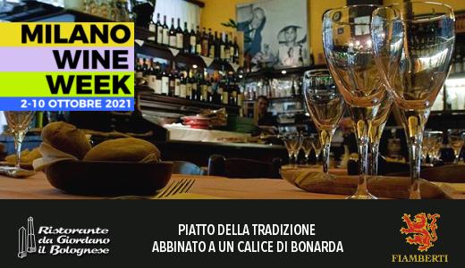 MWW 2021: salam da sugo con polenta e Bonarda al ristorante Giordano Il Bolognese