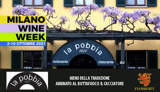 MWW 2021: menu della tradizione e Buttafuoco Il Cacciatore 2019 al ristorante La Pobbia 1850