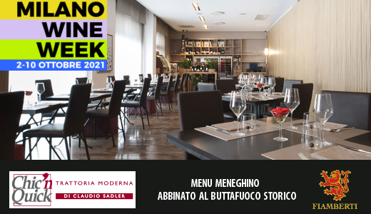 MWW 2021: menu meneghino e Buttafuoco Storico Vigna Sacca del Prete 2016 da Chic'n Quick