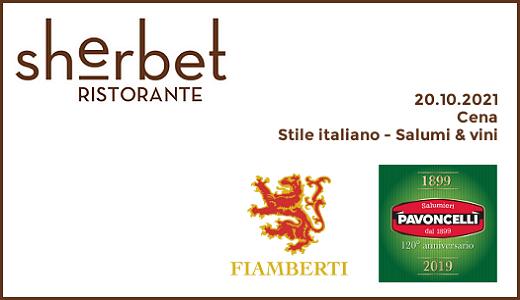 """Cena """"Stile italiano - Salumi & vini"""" al ristorante Sherbet di Milano (20/10/2021)"""